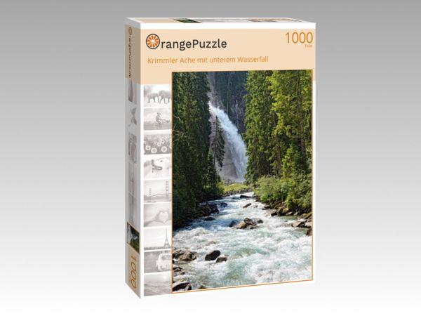 """Puzzle Motiv """"Krimmler Ache mit unterem Wasserfall"""" - Puzzle-Schachtel zu 1000 Teile Puzzle"""