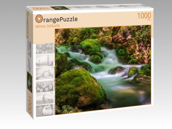 "Puzzle Motiv ""Minisc Schlucht"" - Puzzle-Schachtel zu 1000 Teile Puzzle"