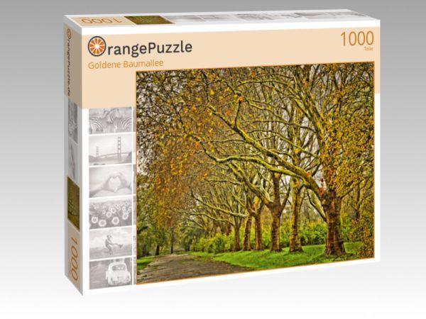 """Puzzle Motiv """"Goldene Baumallee"""" - Puzzle-Schachtel zu 1000 Teile Puzzle"""