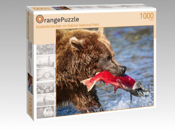 "Puzzle Motiv ""Küstenbraunbär im Katmai National Park"" - Puzzle-Schachtel zu 1000 Teile Puzzle"