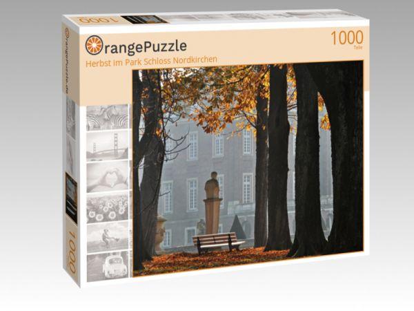 """Puzzle Motiv """"Herbst im Park Schloss Nordkirchen"""" - Puzzle-Schachtel zu 1000 Teile Puzzle"""