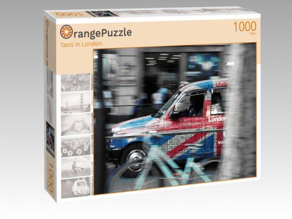 """Puzzle Motiv """"Taxis in London"""" - Puzzle-Schachtel zu 1000 Teile Puzzle"""