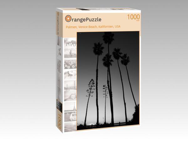 """Puzzle Motiv """"Palmen, Venice Beach, Kalifornien, USA"""" - Puzzle-Schachtel zu 1000 Teile Puzzle"""