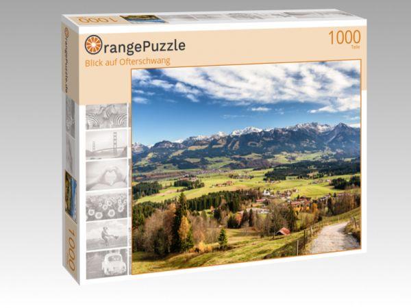 """Puzzle Motiv """"Blick auf Ofterschwang"""" - Puzzle-Schachtel zu 1000 Teile Puzzle"""