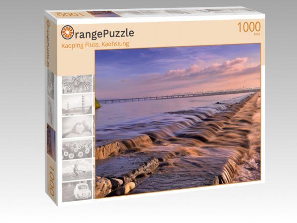 """Puzzle Motiv """"Kaoping Fluss, Kaohsiung"""" - Puzzle-Schachtel zu 1000 Teile Puzzle"""