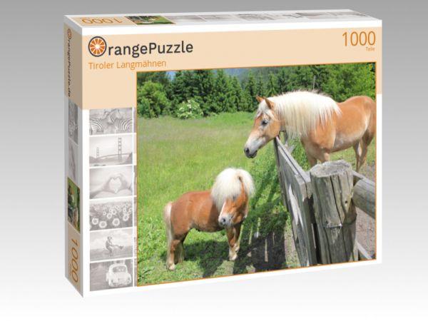 "Puzzle Motiv ""Tiroler Langmähnen"" - Puzzle-Schachtel zu 1000 Teile Puzzle"
