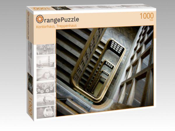 """Puzzle Motiv """"Kontorhaus, Treppenhaus"""" - Puzzle-Schachtel zu 1000 Teile Puzzle"""