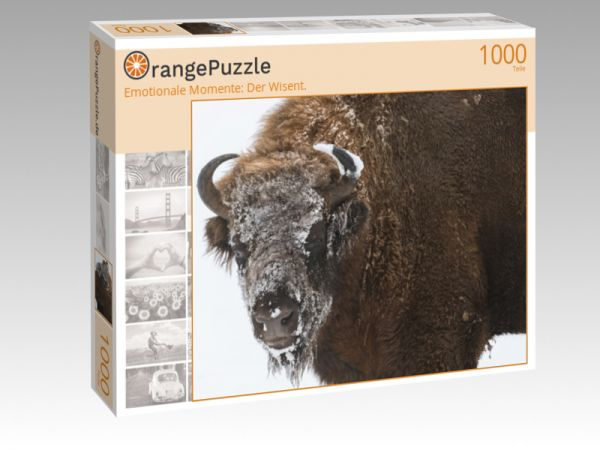 """Puzzle Motiv """"Emotionale Momente: Der Wisent."""" - Puzzle-Schachtel zu 1000 Teile Puzzle"""
