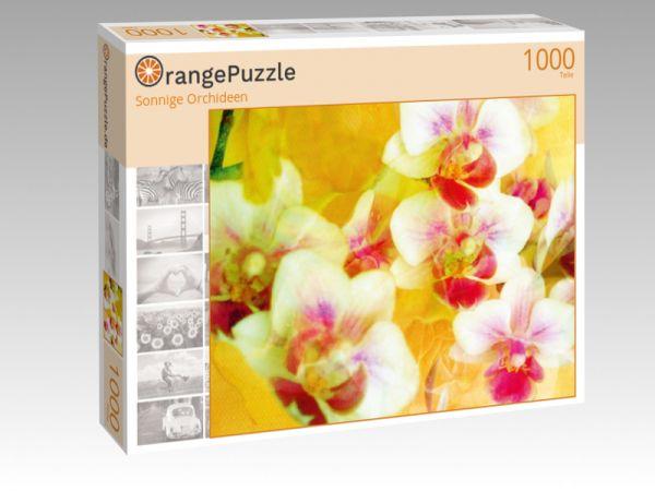 """Puzzle Motiv """"Sonnige Orchideen"""" - Puzzle-Schachtel zu 1000 Teile Puzzle"""