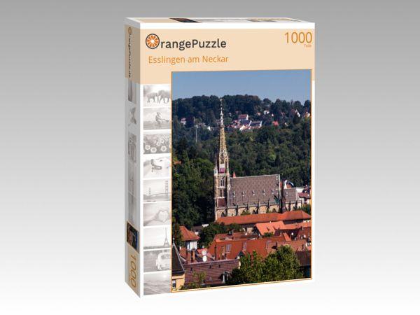 """Puzzle Motiv """"Esslingen am Neckar"""" - Puzzle-Schachtel zu 1000 Teile Puzzle"""