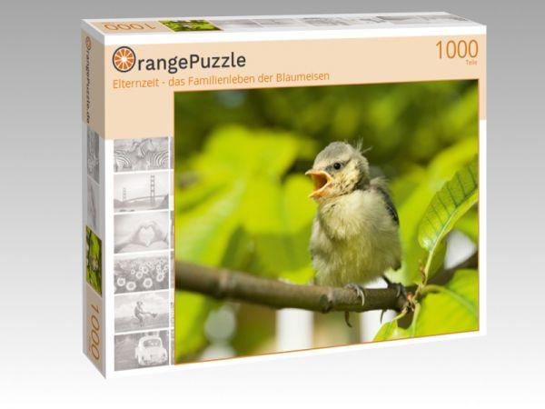 """Puzzle Motiv """"Elternzeit - das Familienleben der Blaumeisen"""" - Puzzle-Schachtel zu 1000 Teile Puzzle"""