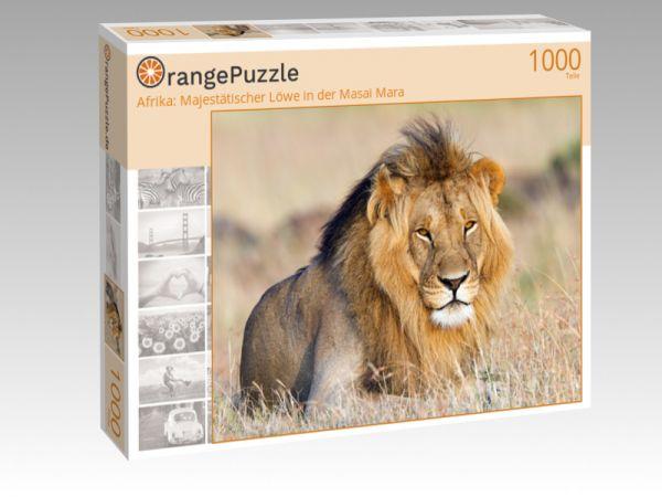 """Puzzle Motiv """"Afrika: Majestätischer Löwe in der Masai Mara"""" - Puzzle-Schachtel zu 1000 Teile Puzzle"""