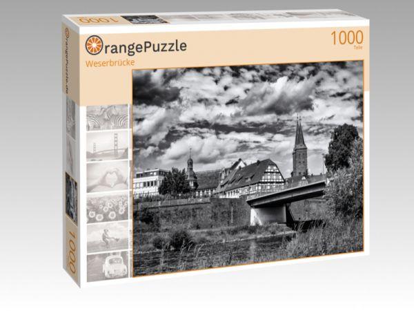 """Puzzle Motiv """"Weserbrücke"""" - Puzzle-Schachtel zu 1000 Teile Puzzle"""