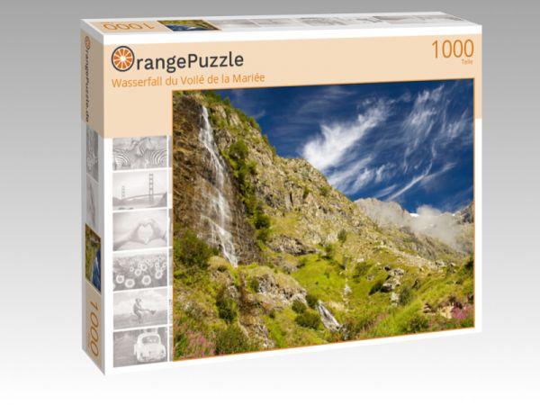 """Puzzle Motiv """"Wasserfall du Voilé de la Mariée"""" - Puzzle-Schachtel zu 1000 Teile Puzzle"""