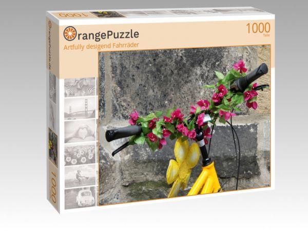 "Puzzle Motiv ""Artfully desigend Fahrräder"" - Puzzle-Schachtel zu 1000 Teile Puzzle"