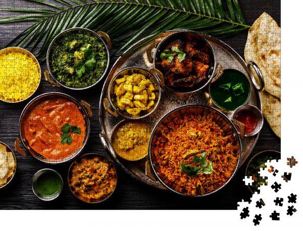 """Puzzle-Motiv """"Indische Küche Currybutter Huhn"""" - Puzzle-Schachtel zu 1000 Teile Puzzle"""
