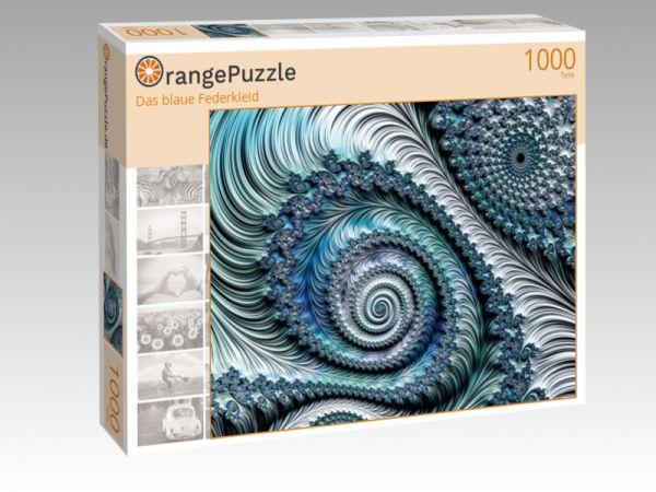 """Puzzle Motiv """"Das blaue Federkleid"""" - Puzzle-Schachtel zu 1000 Teile Puzzle"""