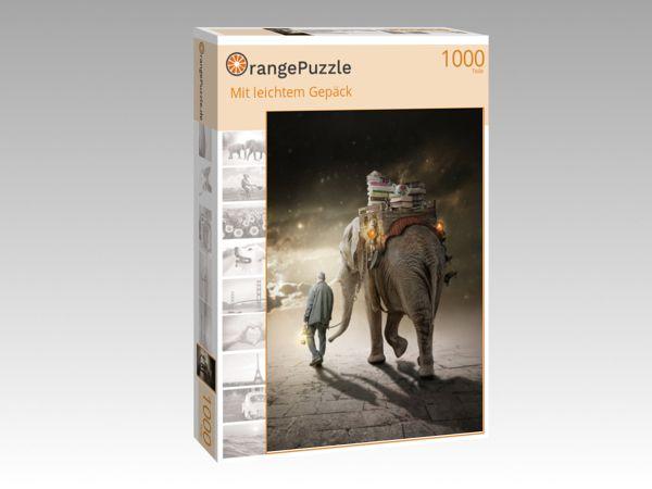 "Puzzle Motiv ""Mit leichtem Gepäck"" - Puzzle-Schachtel zu 1000 Teile Puzzle"