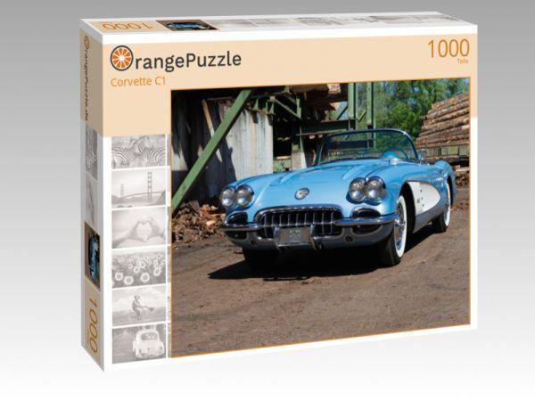 """Puzzle Motiv """"Corvette C1"""" - Puzzle-Schachtel zu 1000 Teile Puzzle"""