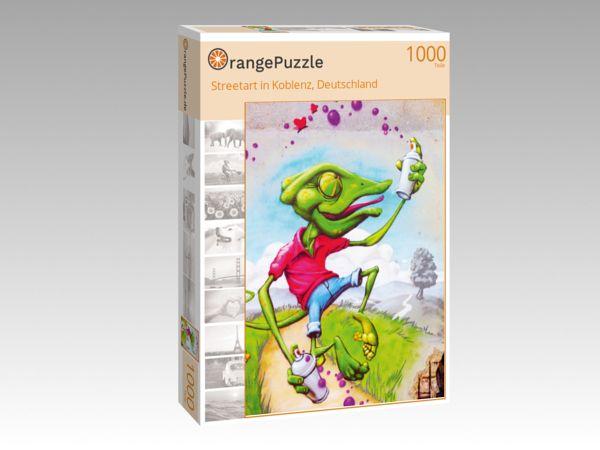 """Puzzle Motiv """"Streetart in Koblenz, Deutschland"""" - Puzzle-Schachtel zu 1000 Teile Puzzle"""
