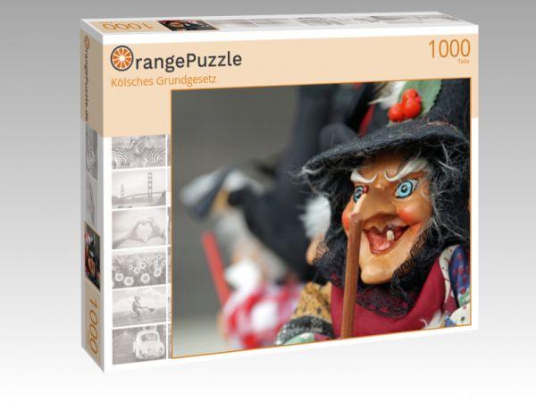"""Puzzle Motiv """"Kölsches Grundgesetz"""" - Puzzle-Schachtel zu 1000 Teile Puzzle"""