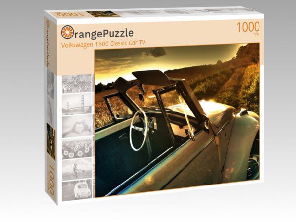 """Puzzle Motiv """"Volkswagen 1500 Classic Car TV"""" - Puzzle-Schachtel zu 1000 Teile Puzzle"""