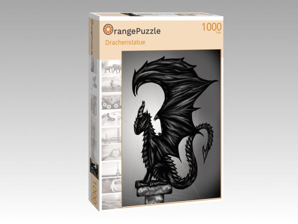 """Puzzle Motiv """"Drachenstatue"""" - Puzzle-Schachtel zu 1000 Teile Puzzle"""