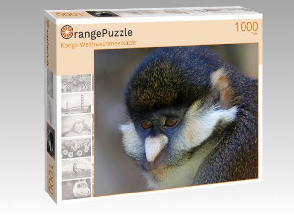 """Puzzle Motiv """"Kongo-Weißnasenmeerkatze"""" - Puzzle-Schachtel zu 1000 Teile Puzzle"""