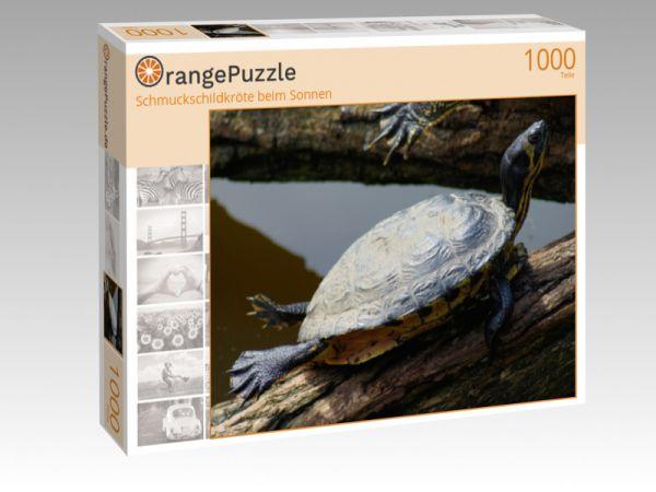 """Puzzle Motiv """"Schmuckschildkröte beim Sonnen"""" - Puzzle-Schachtel zu 1000 Teile Puzzle"""