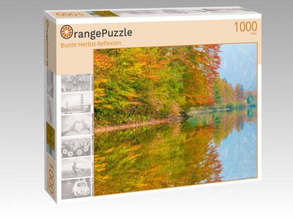 "Puzzle Motiv ""Bunte Herbst Reflexion"" - Puzzle-Schachtel zu 1000 Teile Puzzle"