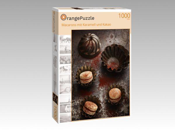 """Puzzle Motiv """"Macarons mit Karamell und Kakao"""" - Puzzle-Schachtel zu 1000 Teile Puzzle"""