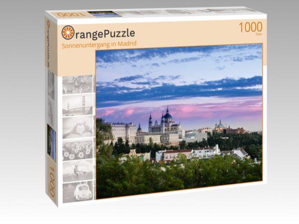 "Puzzle Motiv ""Sonnenuntergang in Madrid"" - Puzzle-Schachtel zu 1000 Teile Puzzle"