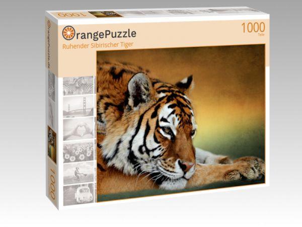 """Puzzle Motiv """"Ruhender Sibirischer Tiger"""" - Puzzle-Schachtel zu 1000 Teile Puzzle"""