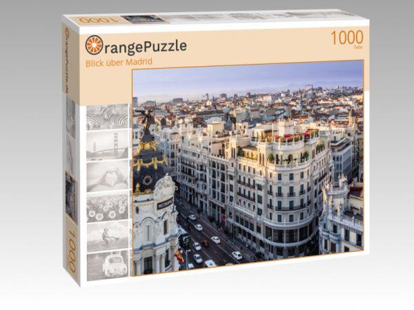 """Puzzle Motiv """"Blick über Madrid"""" - Puzzle-Schachtel zu 1000 Teile Puzzle"""