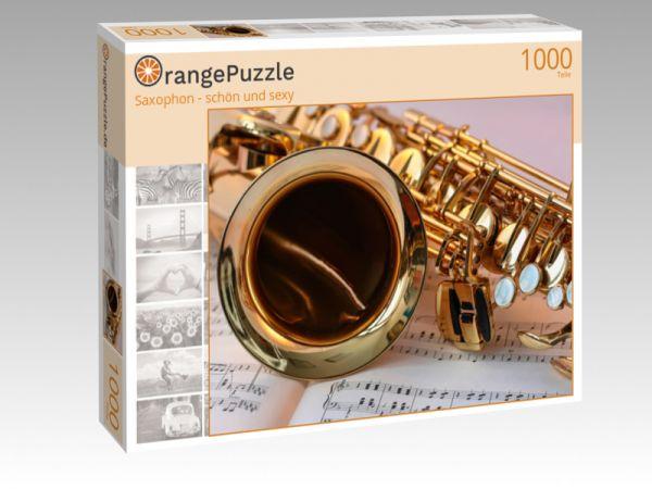"""Puzzle Motiv """"Saxophon - schön und sexy"""" - Puzzle-Schachtel zu 1000 Teile Puzzle"""