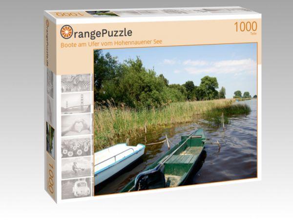 """Puzzle Motiv """"Boote am Ufer vom Hohennauener See"""" - Puzzle-Schachtel zu 1000 Teile Puzzle"""