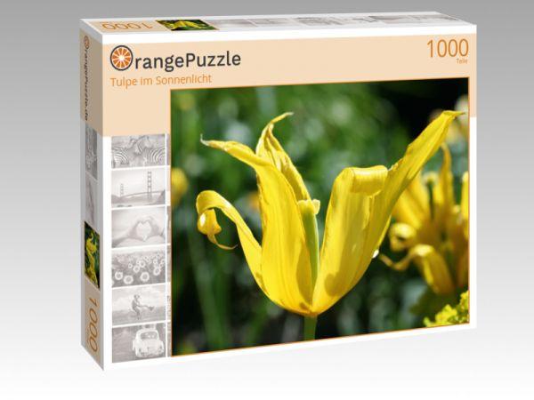 """Puzzle Motiv """"Tulpe im Sonnenlicht"""" - Puzzle-Schachtel zu 1000 Teile Puzzle"""