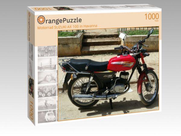 """Puzzle Motiv """"Motorrad SUZUKI AX 100 in Havanna"""" - Puzzle-Schachtel zu 1000 Teile Puzzle"""