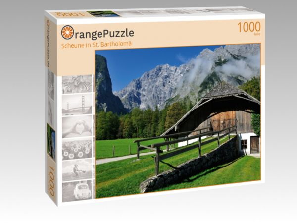"Puzzle Motiv ""Scheune in St. Bartholomä"" - Puzzle-Schachtel zu 1000 Teile Puzzle"