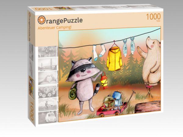 """Puzzle Motiv """"Abenteuer Camping!"""" - Puzzle-Schachtel zu 1000 Teile Puzzle"""