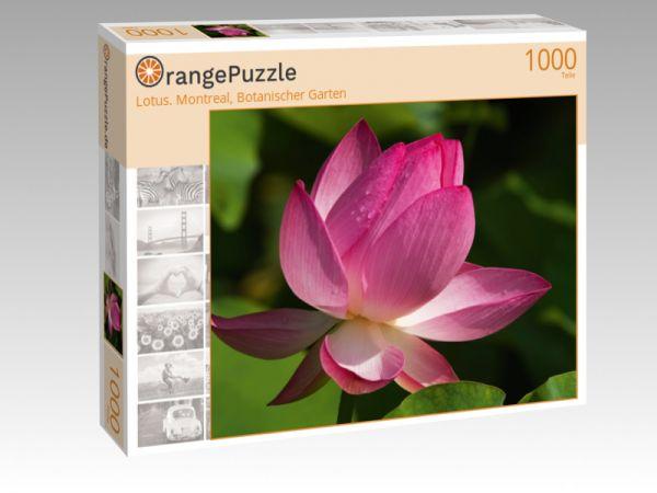 """Puzzle Motiv """"Lotus. Montreal, Botanischer Garten"""" - Puzzle-Schachtel zu 1000 Teile Puzzle"""