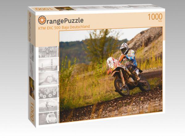 """Puzzle Motiv """"KTM EXC 500 Baja Deutschland"""" - Puzzle-Schachtel zu 1000 Teile Puzzle"""