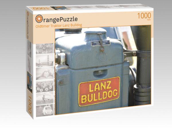 "Puzzle Motiv ""Oldtimer Traktor Lanz Bulldog"" - Puzzle-Schachtel zu 1000 Teile Puzzle"