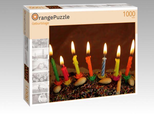"""Puzzle Motiv """"Geburtstage"""" - Puzzle-Schachtel zu 1000 Teile Puzzle"""