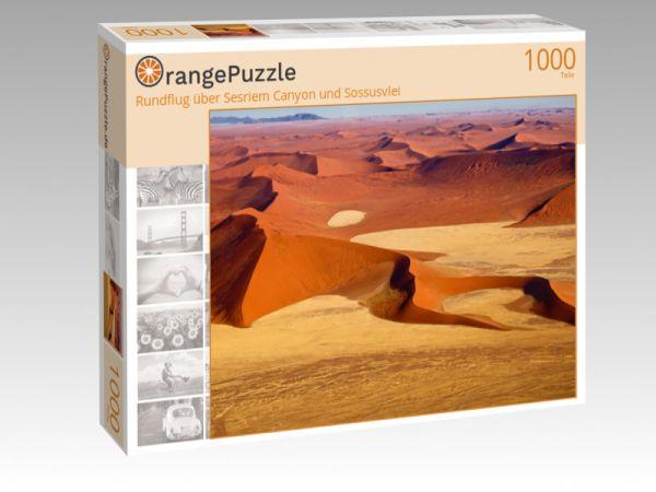 """Puzzle Motiv """"Rundflug über Sesriem Canyon und Sossusvlei"""" - Puzzle-Schachtel zu 1000 Teile Puzzle"""