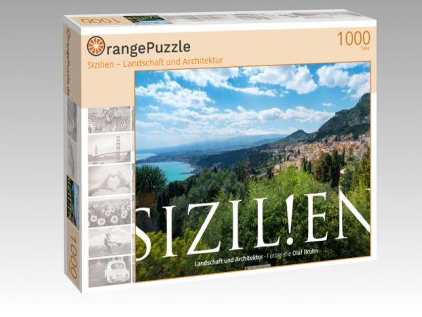 "Puzzle Motiv ""Sizilien – Landschaft und Architektur"" - Puzzle-Schachtel zu 1000 Teile Puzzle"