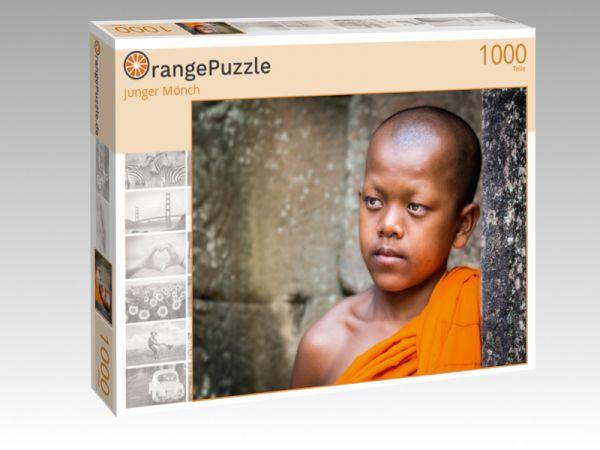 """Puzzle Motiv """"junger Mönch"""" - Puzzle-Schachtel zu 1000 Teile Puzzle"""