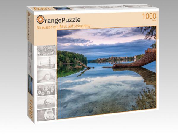 """Puzzle Motiv """"Straussee mit Blick auf Strausberg"""" - Puzzle-Schachtel zu 1000 Teile Puzzle"""