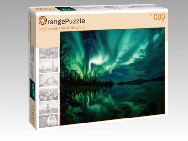 """Puzzle Motiv """"Beginn der Polarlichtsaison"""" - Puzzle-Schachtel zu 1000 Teile Puzzle"""