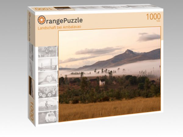 "Puzzle Motiv ""Landschaft bei Ambalavao"" - Puzzle-Schachtel zu 1000 Teile Puzzle"